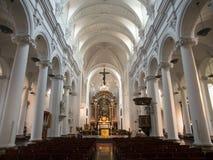 Interior Of Saint Bartholomew Church in Liège. Belgium with Meuse Romanesque—Ottonian architecture royalty free stock photo