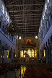 Interior of the Saint Dimitrios church in Thessaloniki Royalty Free Stock Image