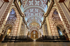 Interior of Saint Francis Monastery in Lima, Peru Royalty Free Stock Photography