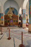 Interior of Saint George church in Madaba, Jordan Stock Photos