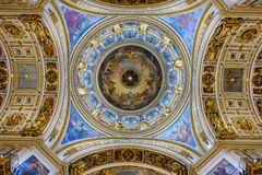 Interior of the Saint Isaac Cathedral. Saint Petersburg, Russia Royalty Free Stock Photos