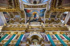 Interior of the Saint Isaac Cathedral. St.Petersburg, Russia Stock Images