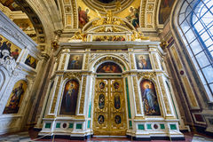 Interior of the Saint Isaac Cathedral. St.Petersburg, Russia Royalty Free Stock Photography