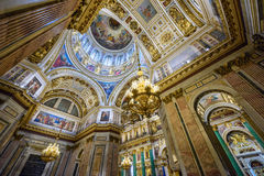 Interior of the Saint Isaac Cathedral. St.Petersburg, Russia Royalty Free Stock Images