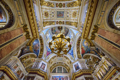 Interior of the Saint Isaac Cathedral. St.Petersburg, Russia Stock Image