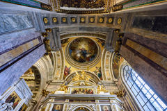 Interior of the Saint Isaac Cathedral. St.Petersburg, Russia Stock Photo