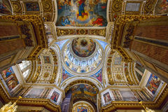 Interior of the Saint Isaac`s Cathedral Isaakievskiy Sobor. Saint Petersburg, Russia. Interior of the Saint Isaac`s Cathedral Isaakievskiy Sobor - the largest Stock Photography