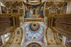 Interior of the Saint Isaac`s Cathedral Isaakievskiy Sobor. Saint Petersburg, Russia Stock Photo