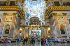 Interior of Saint Isaac's Cathedral in Saint Petersburg, Russi Stock Images