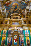 Interior of Saint Isaac's Cathedral in Saint Petersburg Royalty Free Stock Photos