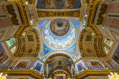 Interior of Saint Isaac's Cathedral in Saint Petersburg Stock Image