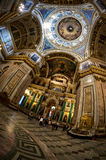 Interior of Saint Isaac's Cathedral in Saint Petersburg Stock Photo
