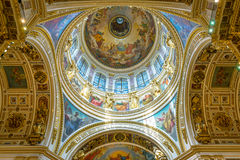Interior of Saint Isaac's Cathedral in Saint Petersburg, Russia Royalty Free Stock Image