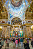Interior of Saint Isaac's Cathedral in Saint Petersburg, Russia Stock Image