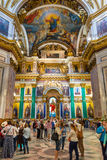 Interior of Saint Isaac's Cathedral in Saint Petersburg, Russia Stock Photography