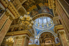 Interior of Saint Isaac's Cathedral in St. Petersburg Royalty Free Stock Images