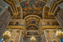 Interior of Saint Isaac's Cathedral in St. Petersburg Stock Photos