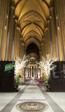 Interior Saint John Divine Church at Christmas time Royalty Free Stock Photography