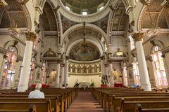 Interior of Saint Leonard Catholic church Stock Images