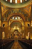 Interior of Saint Louis Cathedral. A beautiful Cathedral that is not very well known worldwide, yet it contains the largest mosaic collection in the world Royalty Free Stock Photo