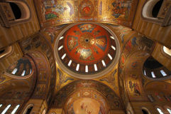 Interior of Saint Louis Cathedral Dome, St. Louis Missouri stock photography