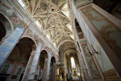 Interior of Saint Martin's Church in Opatow Royalty Free Stock Photo