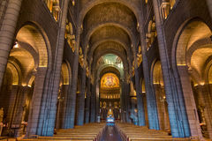 Interior of Saint Nicholas Cathedral in Monaco Royalty Free Stock Photos