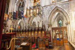 Interior of Saint Patrick Cathedral Stock Photography