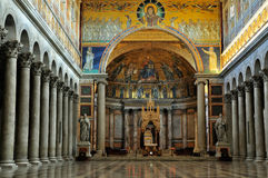 Interior of the Saint Paul Outside the Walls Stock Photo