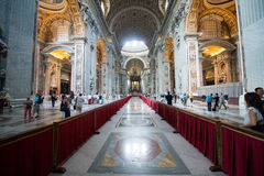Interior of the Saint Peter Cathedral in Vatican Royalty Free Stock Photography