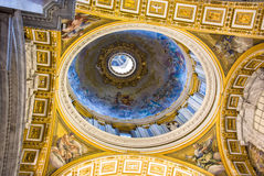 Interior of the Saint Peter Cathedral in Vatican at . Saint Pet Royalty Free Stock Images
