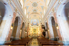 Interior of  the Saint Peter Church in Old Jaffa, Israel Royalty Free Stock Photos