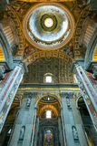 Interior of Saint Peter's Basilica in Rome Stock Photo