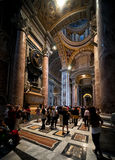Interior of Saint Peter's Basilica in Rome Stock Photos