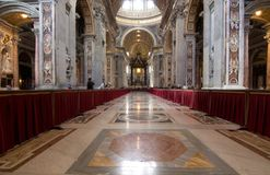 Interior of Saint Peter's dome Rome, Italy. Stock Image