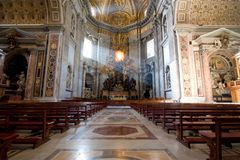 Interior of Saint Peter's dome Rome, Italy. Stock Photos