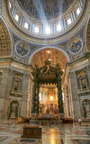 Interior of Saint Peter's dome Stock Photo
