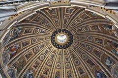 Interior of Saint Peters Basilica  in Vatican Stock Photos