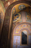 The interior of the Saint Sophia Cathedral in Veliky Novgorod, Russia Royalty Free Stock Images