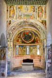 Interior of Saint St Peter and Paul church in Biasca Royalty Free Stock Photos