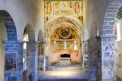 Interior of Saint St Peter and Paul church in Biasca Royalty Free Stock Images