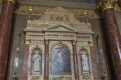Interior of Saint Stephen Basilica in Budapest, Hungary. Stock Photo