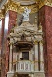 Interior of Saint Stephen Basilica in Budapest, Hungary. Royalty Free Stock Image
