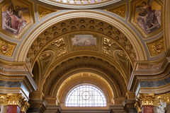 Interior of Saint Stephen Basilica in Budapest, Hungary. Royalty Free Stock Photos