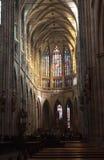 Interior of Saint Vitus Cathedral Royalty Free Stock Photo