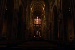 Interior of Saint Vitus Cathedral Stock Image
