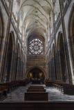 Interior of Saint Vitus Cathedral Stock Photos