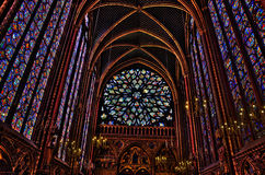 Interior of the Sainte-Chapelle in Paris Royalty Free Stock Photo