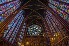 Interior of Sainte-Chapelle, Paris, france Royalty Free Stock Photo