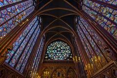 Interior of Sainte-Chapelle, Paris, france Royalty Free Stock Photo
